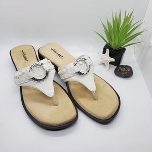 White Mountain White Sandals Size 7.5